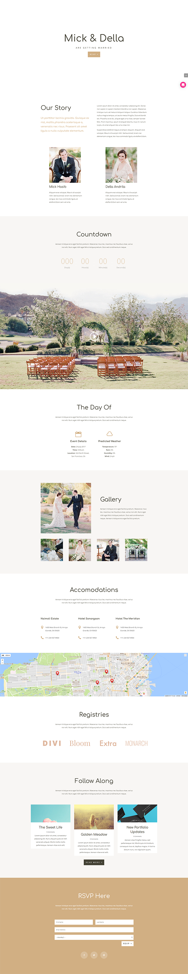 The Wedding Website Layout Pack 免費婚禮網站版型下載