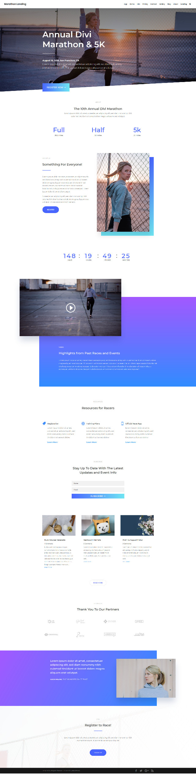 FREE Marathon Layout Pack - 免費運動頁面樣版下載