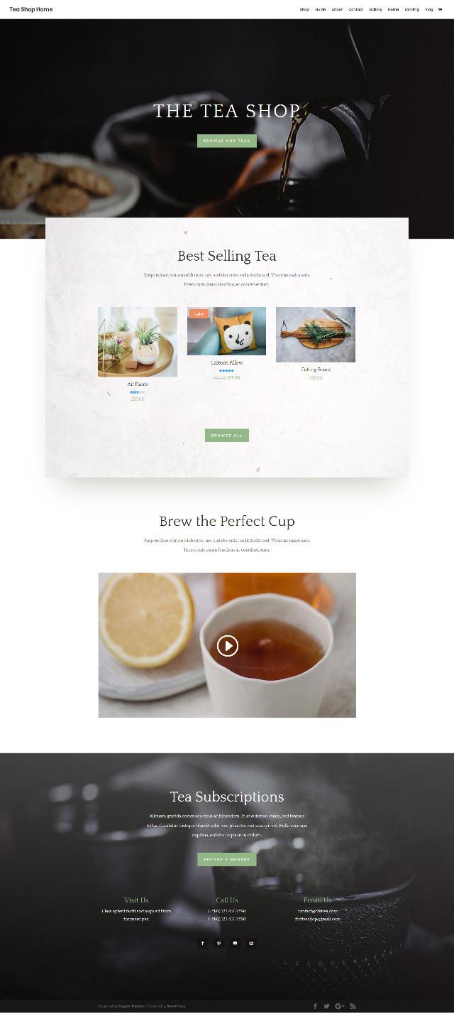 免費茶藝商店頁面樣版下載