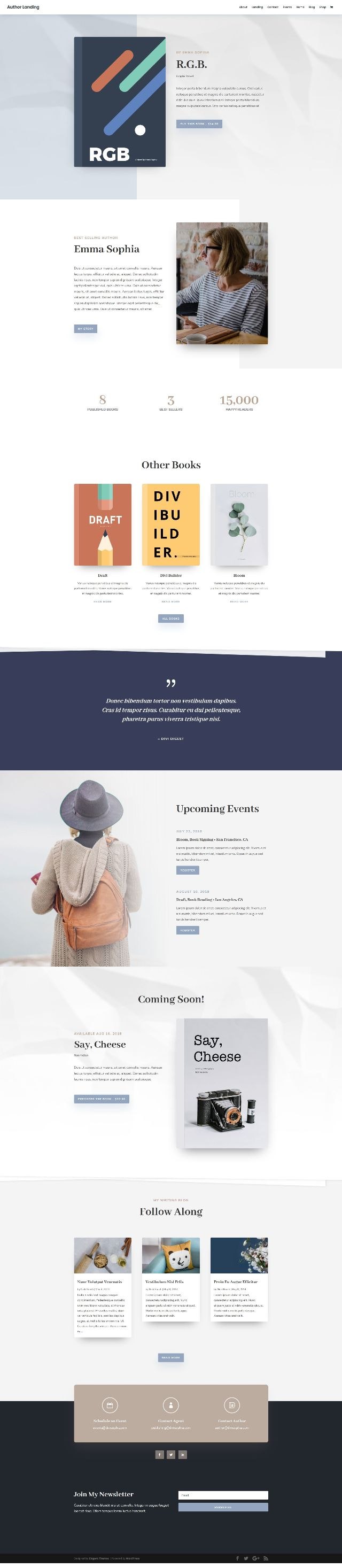 FREE Author Layout Pack Landing Page