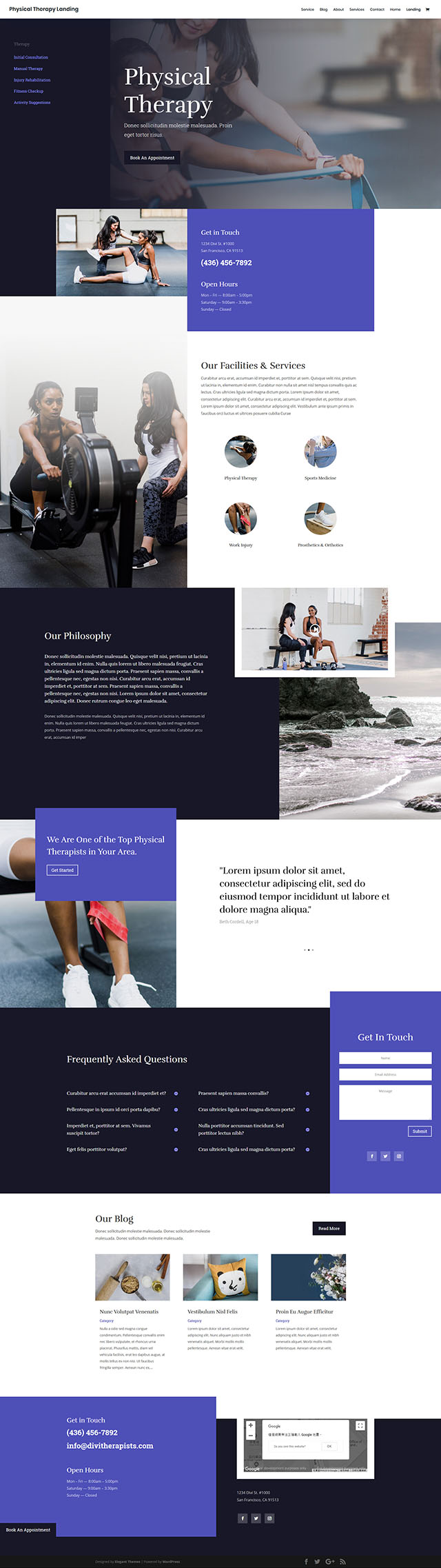 FREE Physical Therapy Layout Pack 免費下載物理治療示範頁面組合